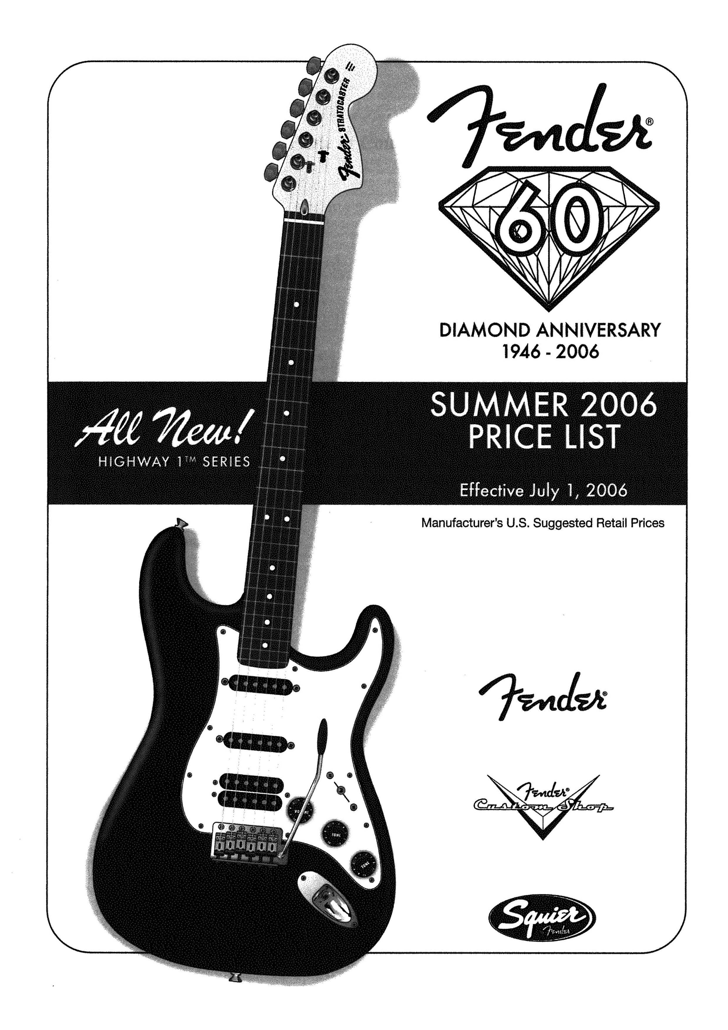 Fender Price list 2006