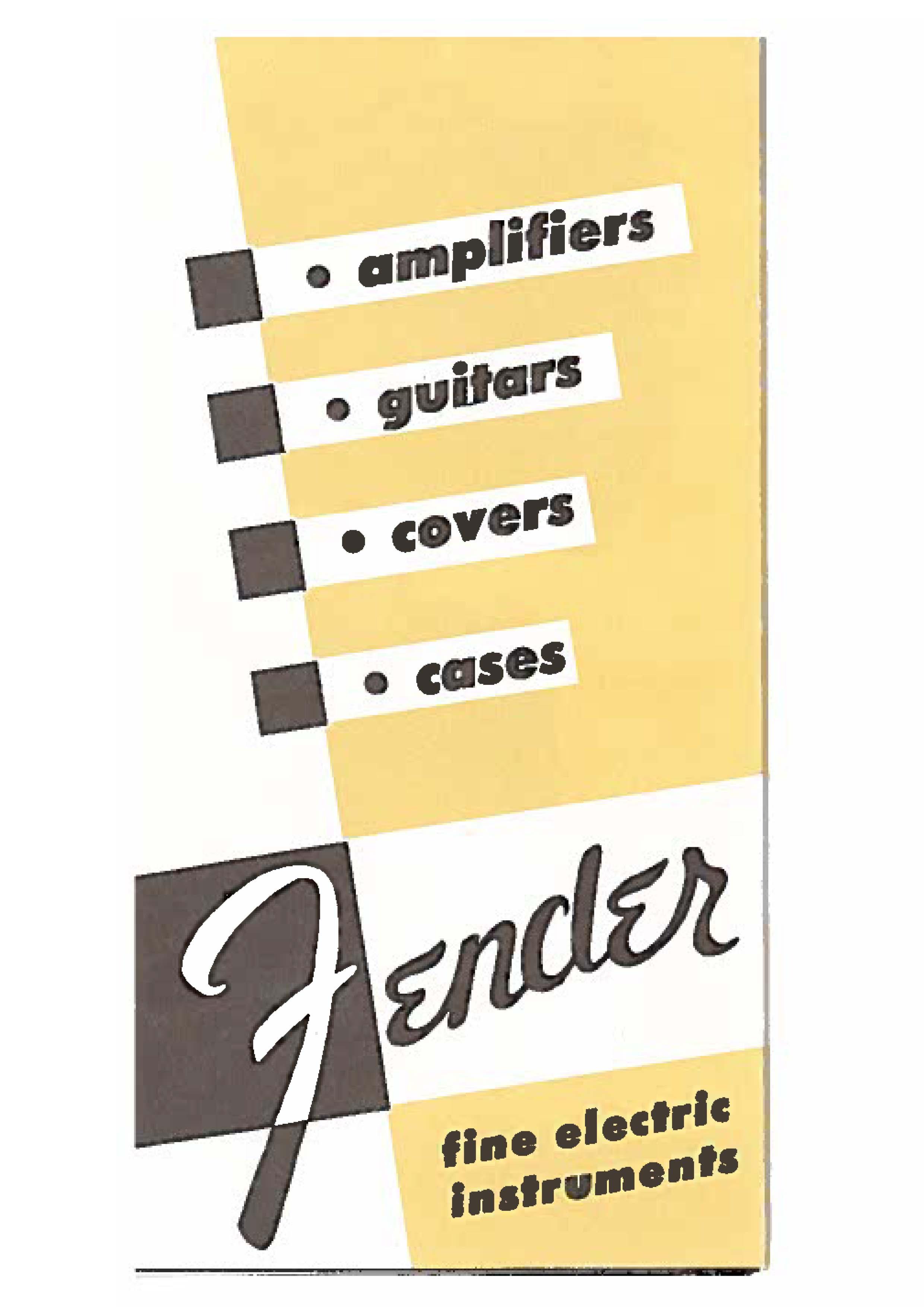 Fender Catalog 1953