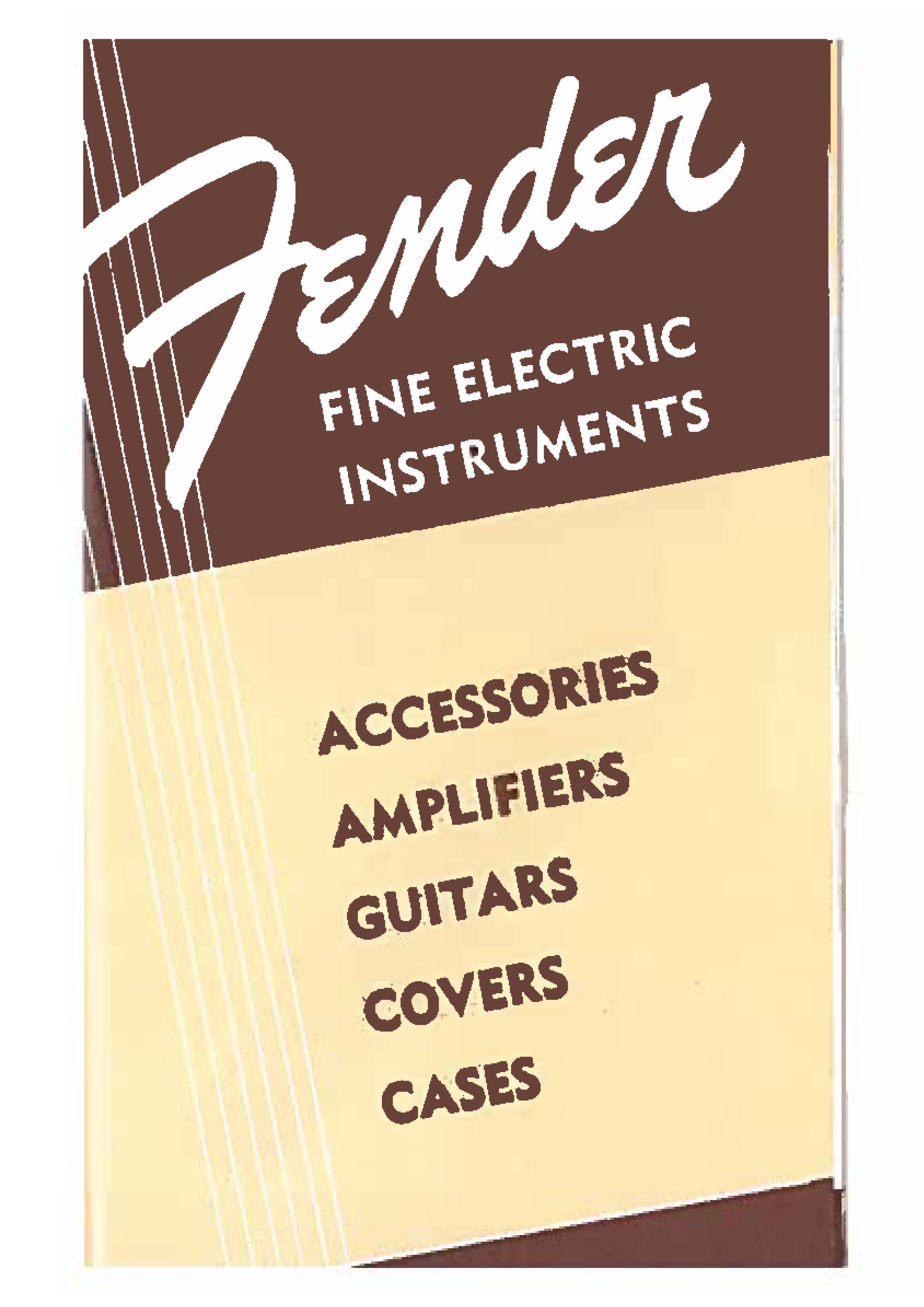 Fender Catalog 1954