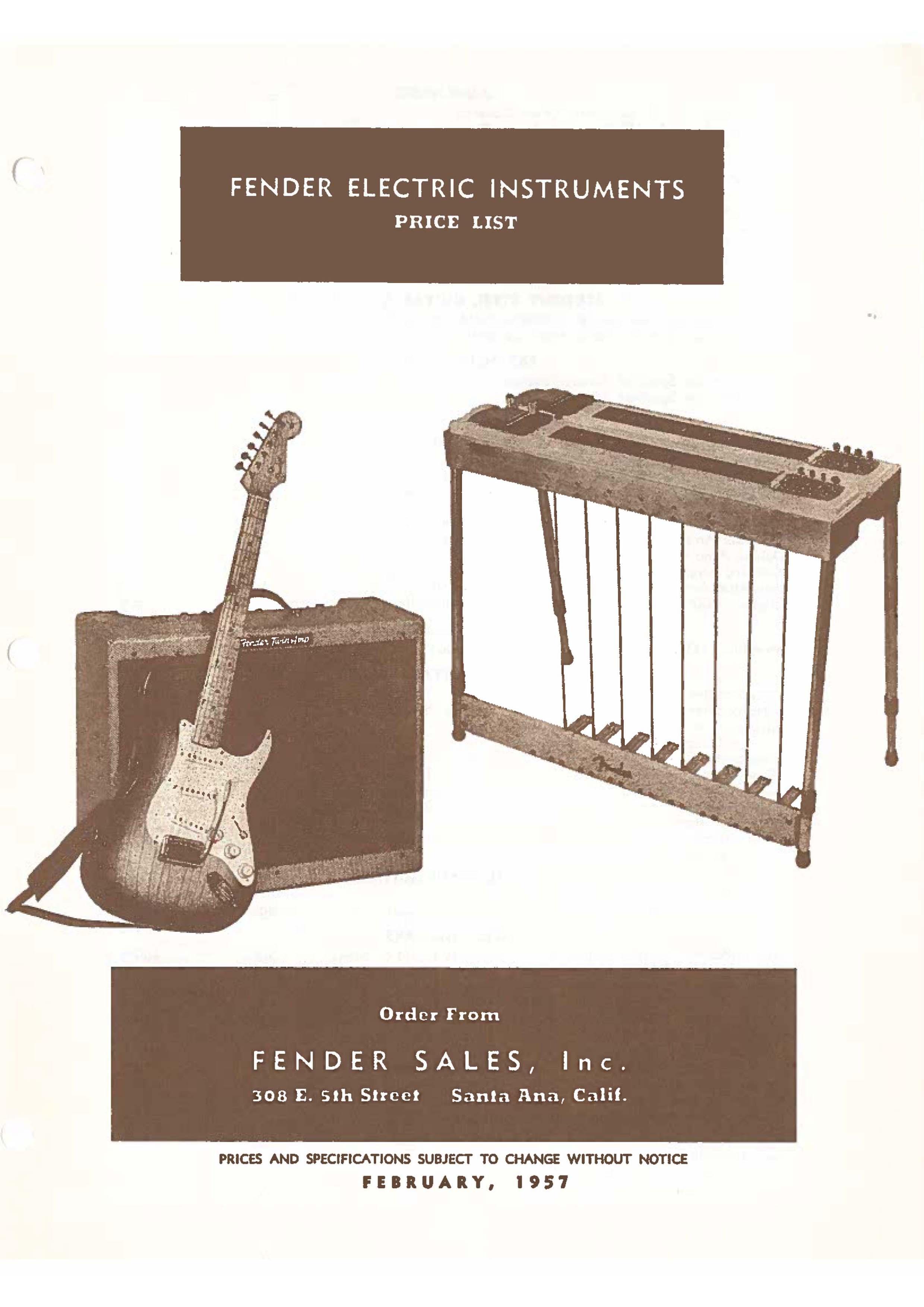 Fender Catalog 1957