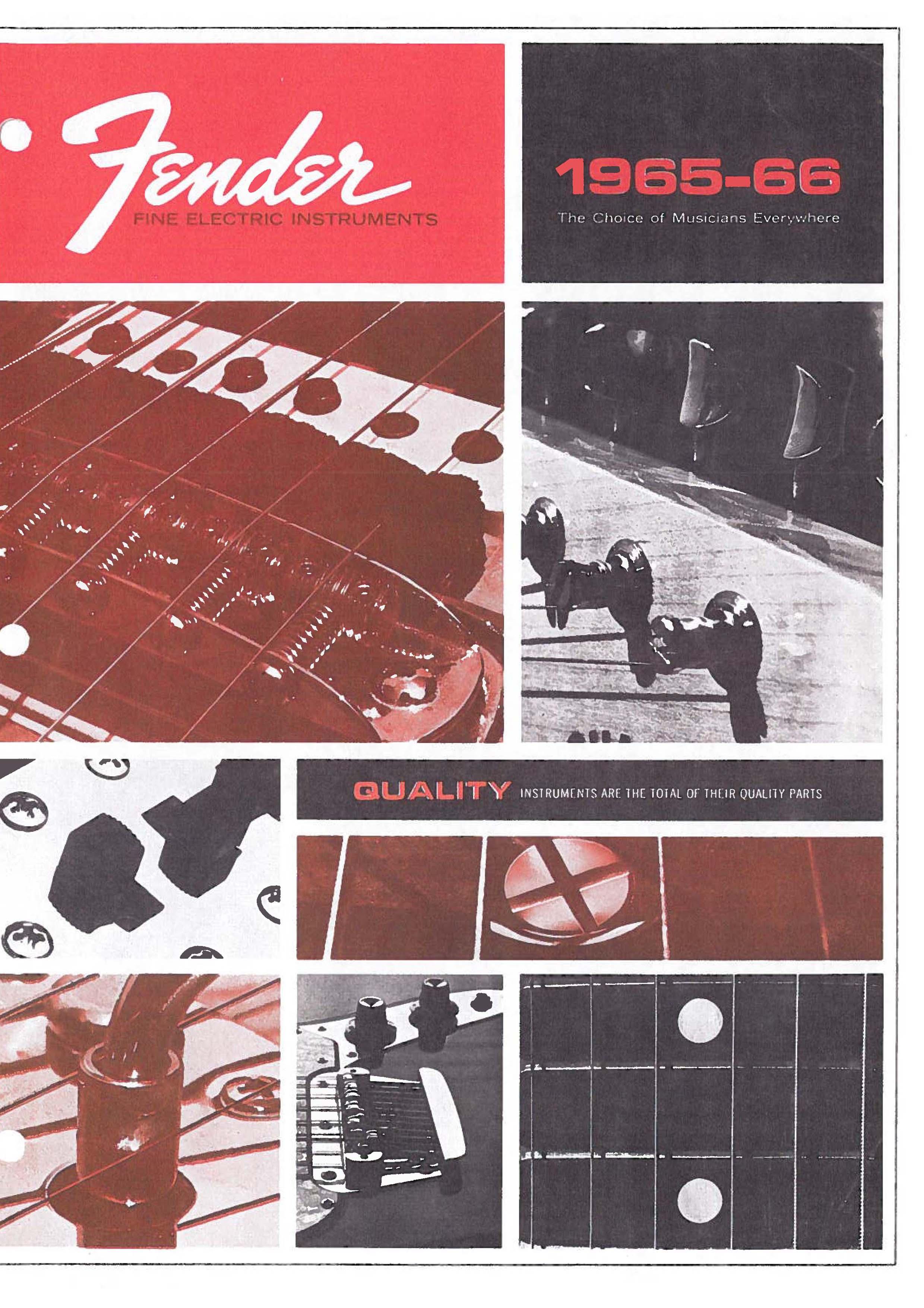 Fender Catalog 1965-66