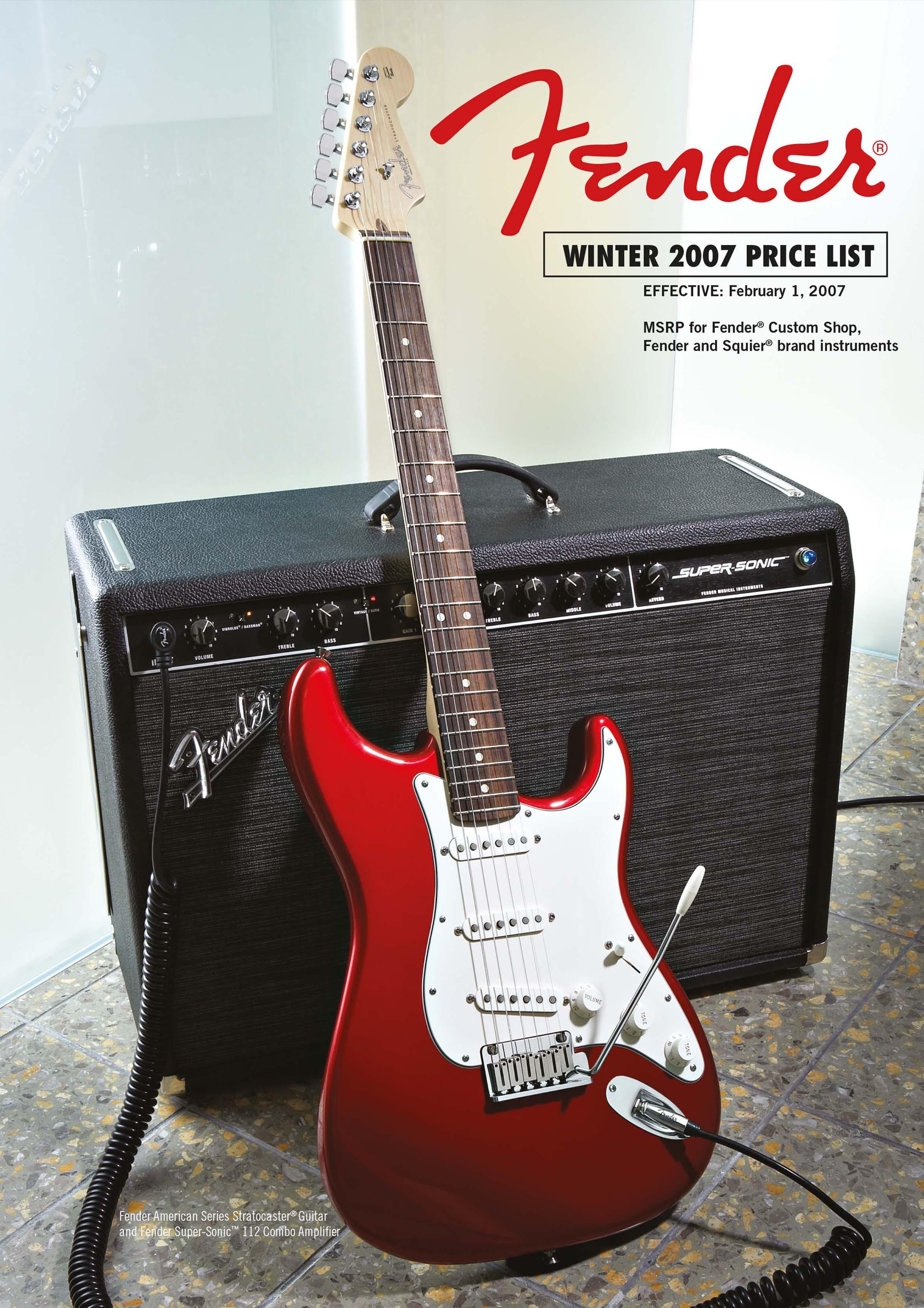 Fender Catalog 2007