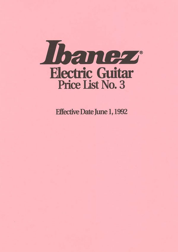 Ibanez Price list 1992 (June)