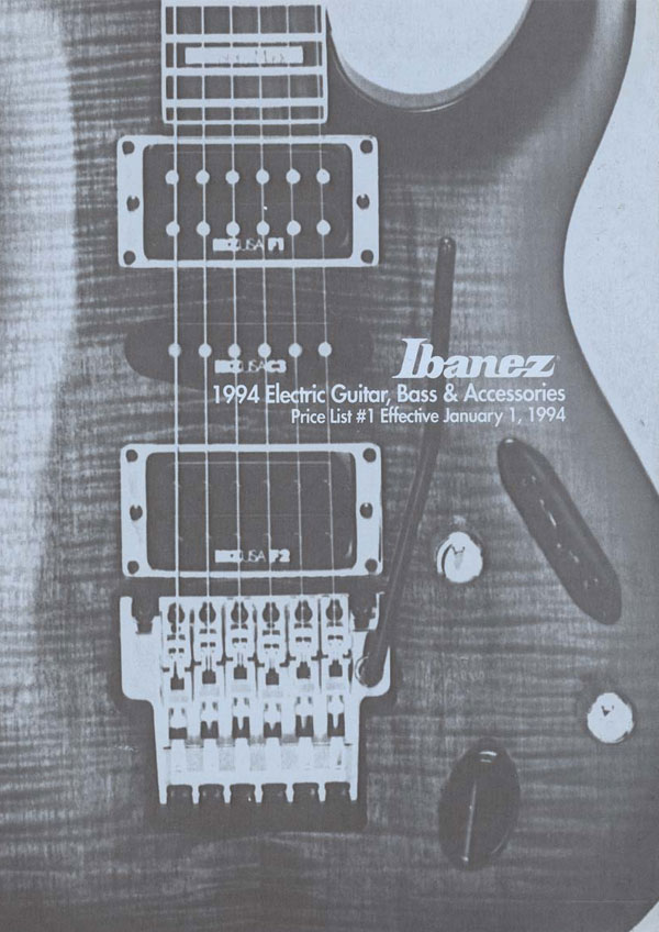 Ibanez Price list 1994 (January)