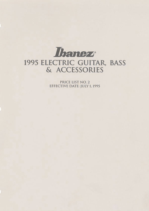 Ibanez Price list 1995 (July)