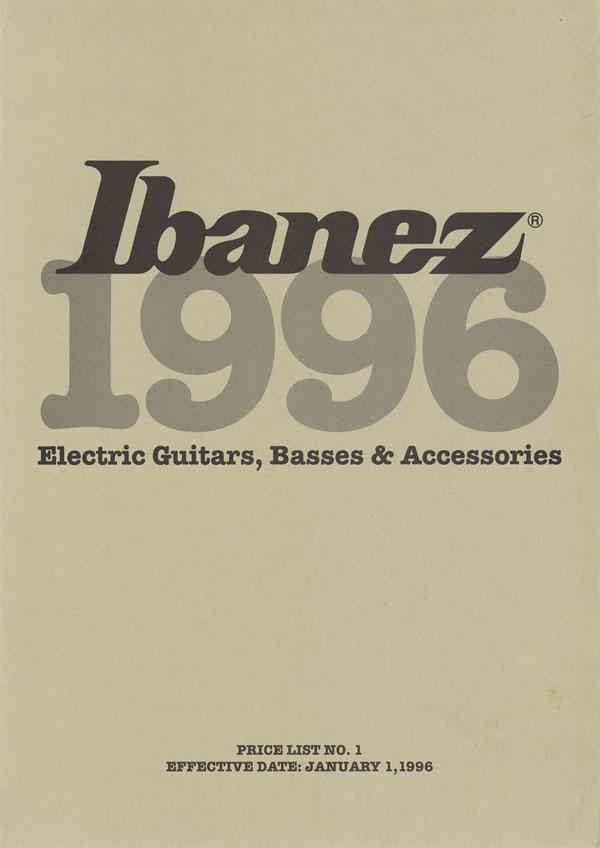 Ibanez Price list 1996