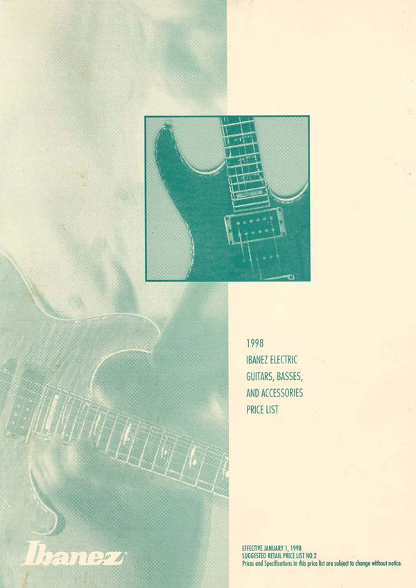 Ibanez Price list 1998