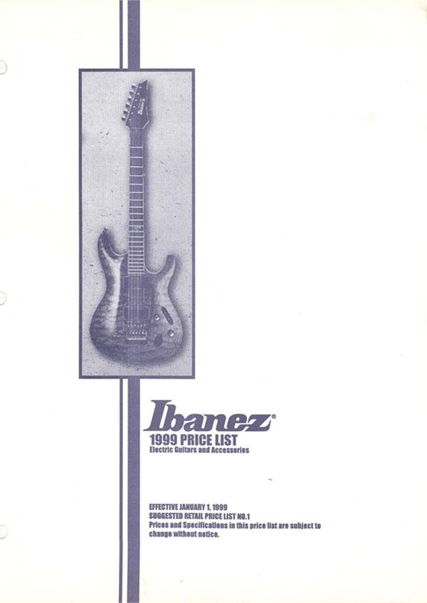 Ibanez Price list 1999