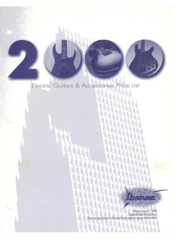 Ibanez Price list 2000 (January)