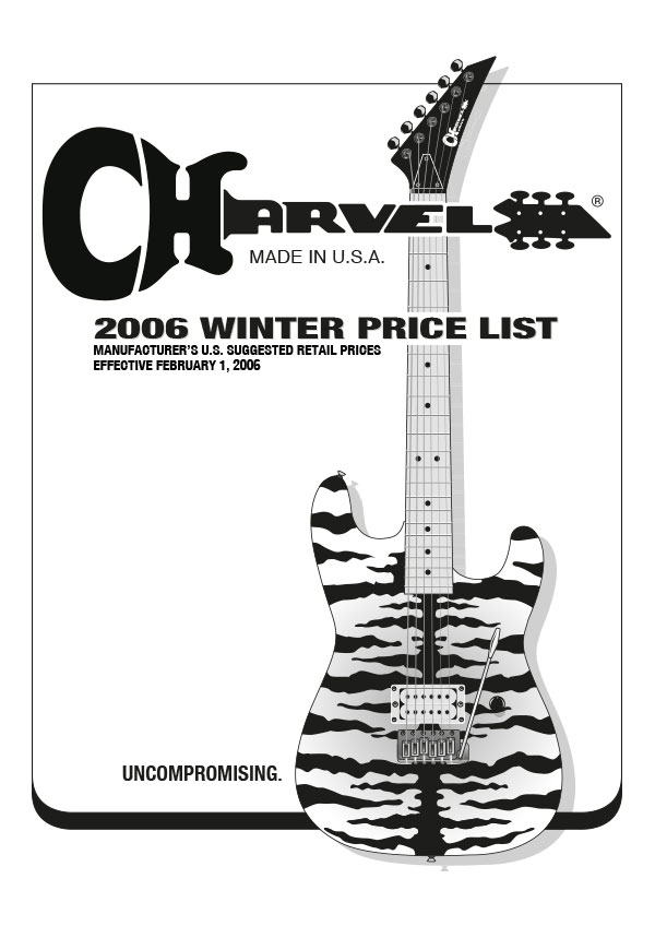 Charvel Price List 2006