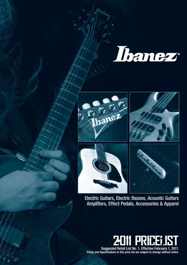Ibanez Price list 2011 February