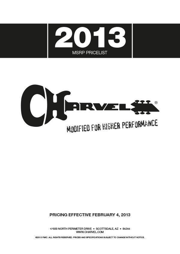 Charvel Price List 2013
