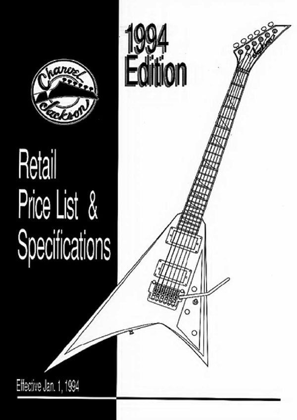 Charvel Price List 1994
