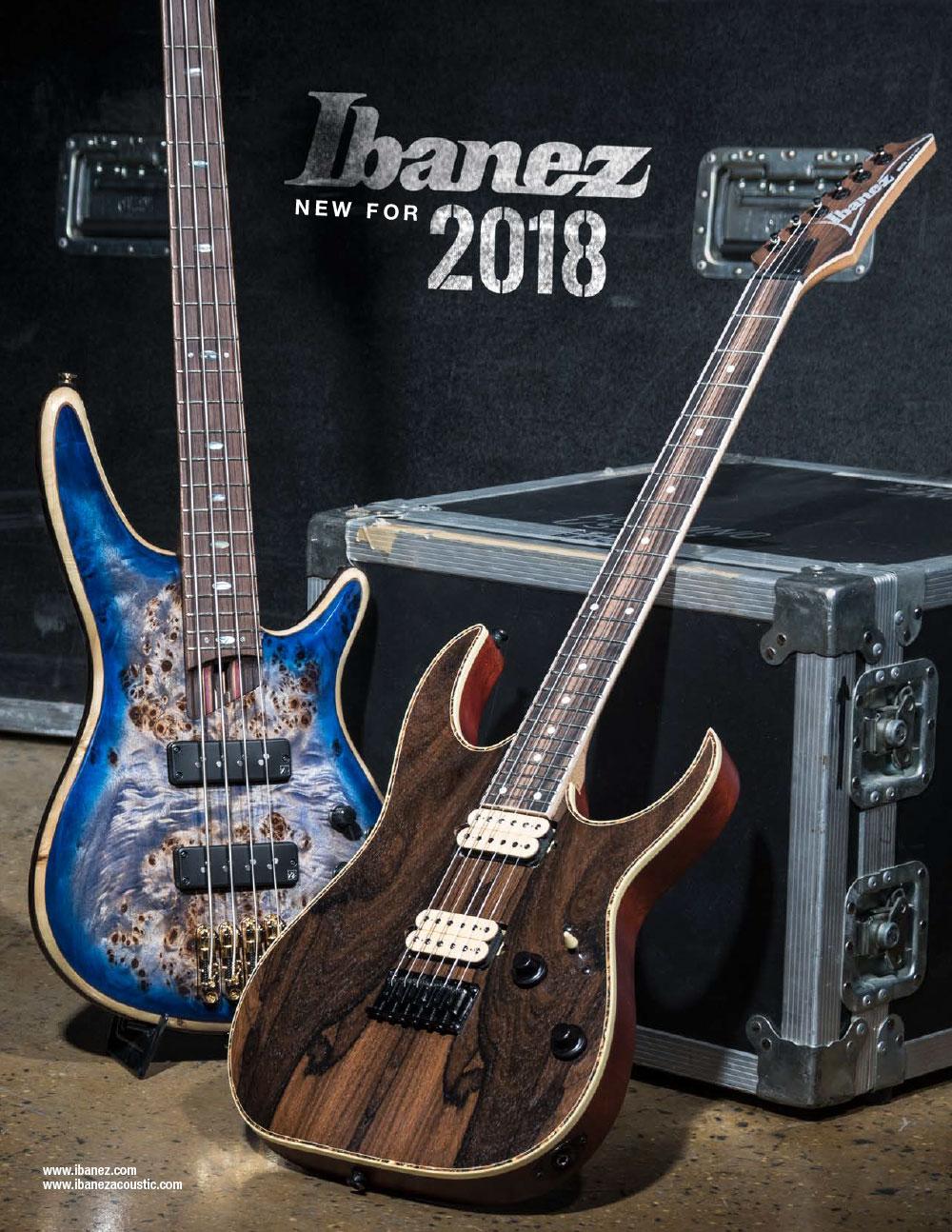 Ibanez Catalog 2018 News