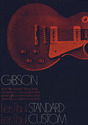Gibson Product Leaflet Les Paul 1968