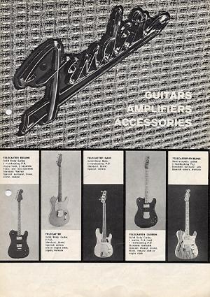Fender Catalog 1975 Germany