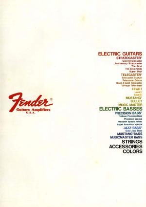 Fender Catalog 1981 Japan