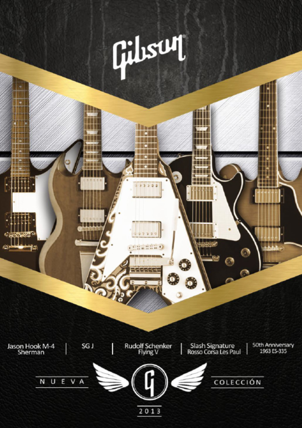 Gibson New Collection 2013 (Spanish)