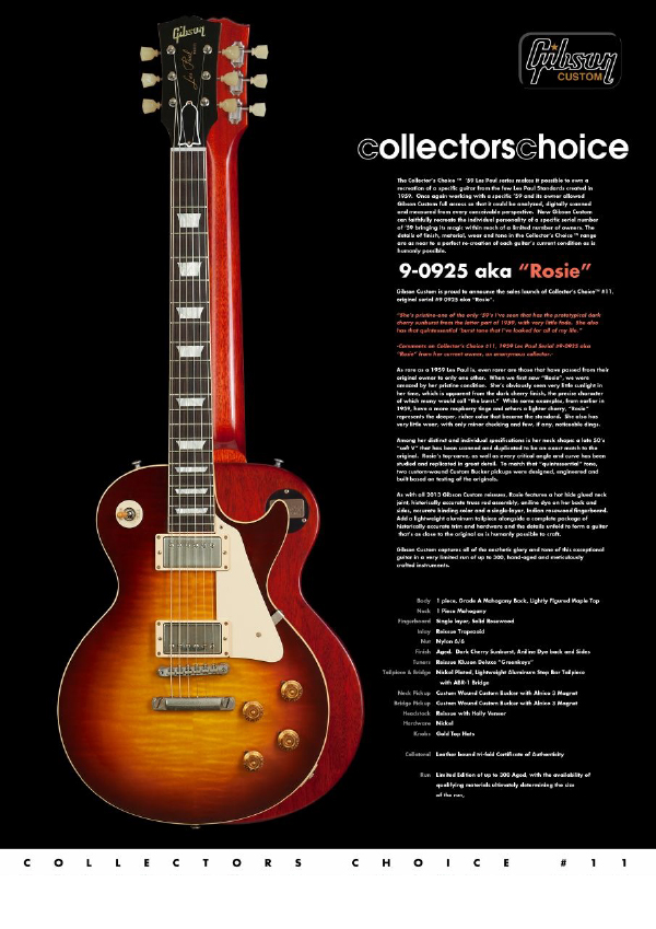 Gibson Custom Collectors Choice #11