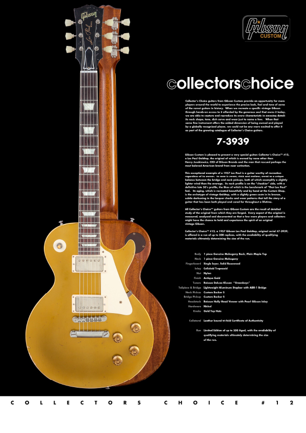 Gibson Custom Collectors Choice #12