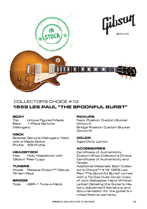 Gibson Custom Collectors Choice #13