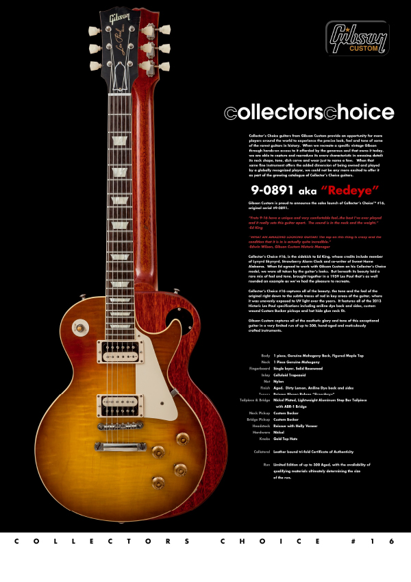 Gibson Custom Collectors Choice #16
