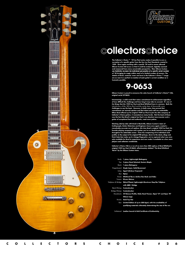 Gibson Custom Collectors Choice #26