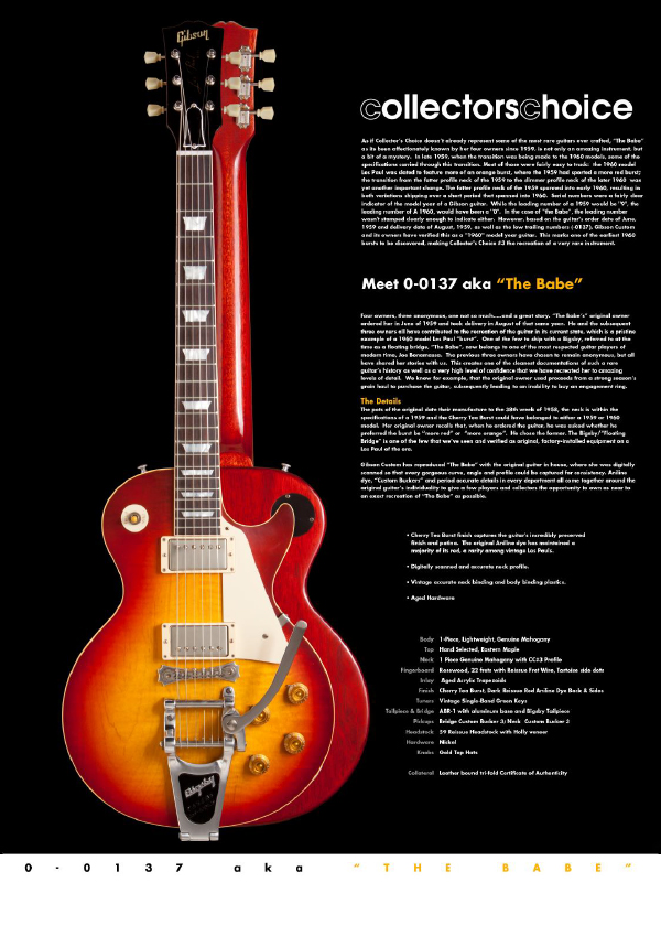 Gibson Custom Collectors Choice #3