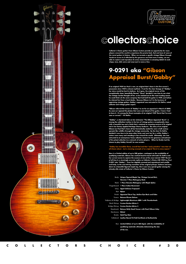 Gibson Custom Collectors Choice #30