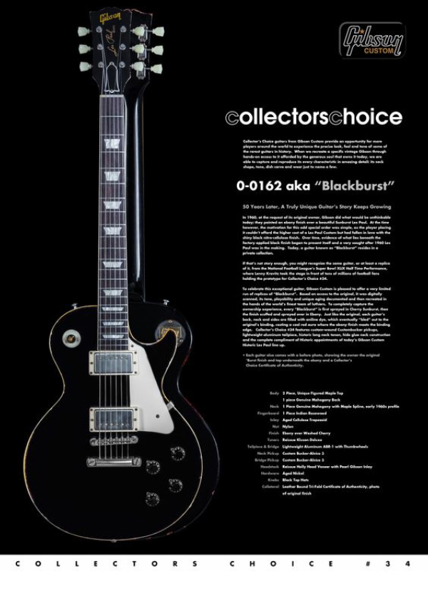 Gibson Custom Collectors Choice #34