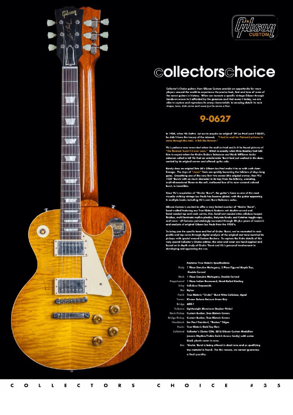 Gibson Custom Collectors Choice #35