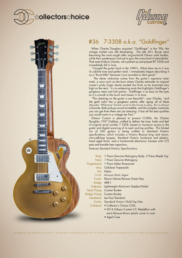 Gibson Custom Collectors Choice #36