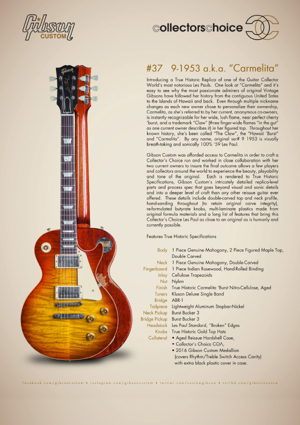 Gibson Custom Collectors Choice #37