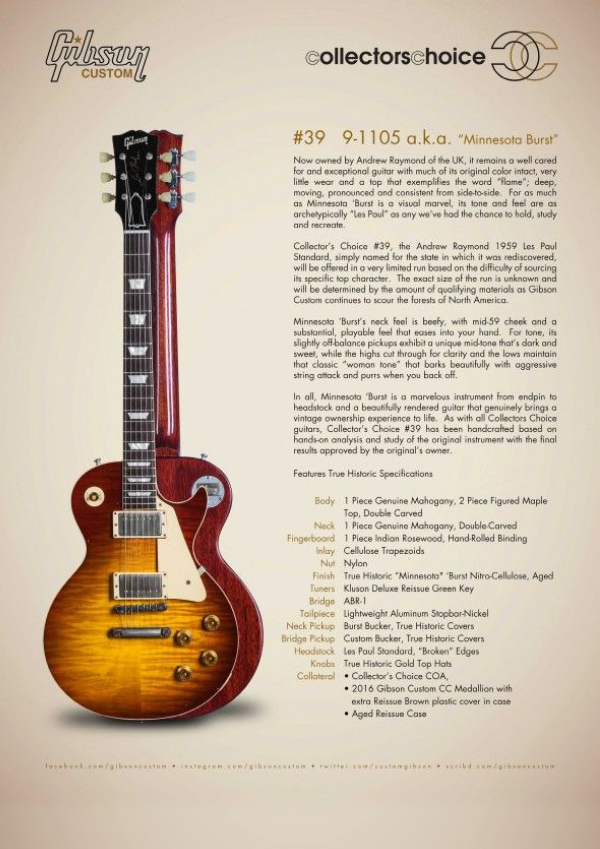 Gibson Custom Collectors Choice #39