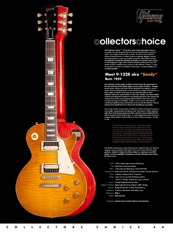 Gibson Custom Collectors Choice #4