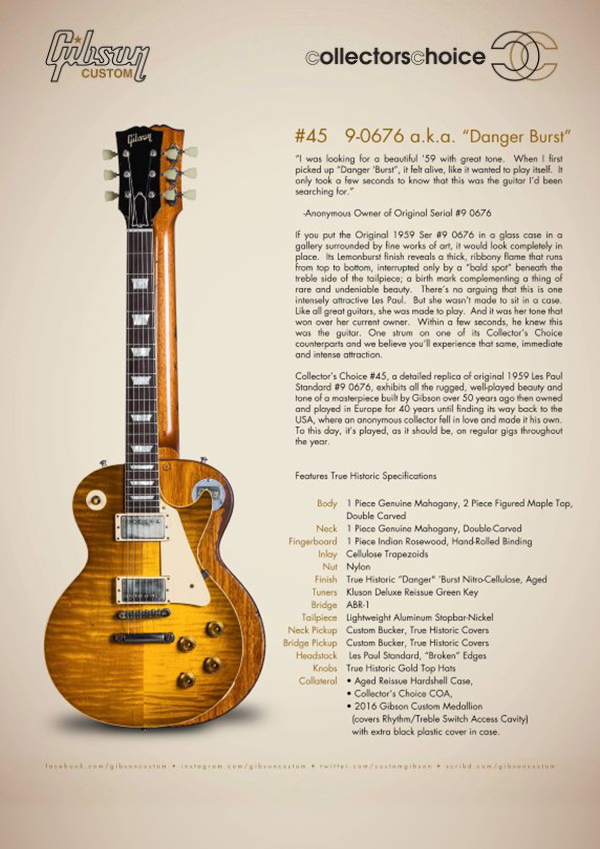 Gibson Custom Collectors Choice #45