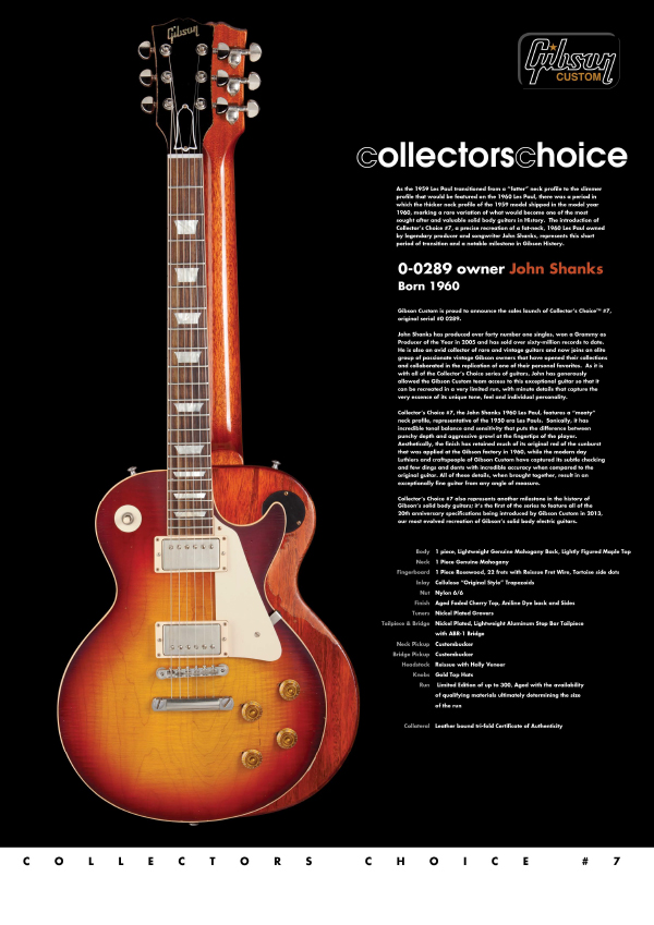 Gibson Custom Collectors Choice #7 John Shanks