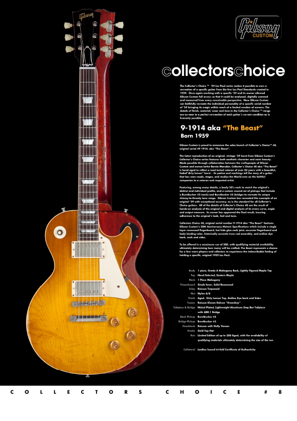 Gibson Custom Collectors Choice #8